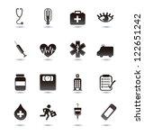 medical icons over white... | Shutterstock .eps vector #122651242