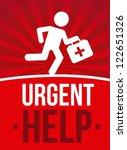 emergency doctor over red... | Shutterstock .eps vector #122651326