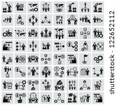 business human resource icons... | Shutterstock .eps vector #122652112