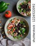 homemade vegetarian cuisine  ... | Shutterstock . vector #1226522092