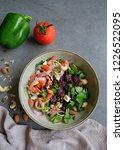 homemade vegetarian cuisine  ... | Shutterstock . vector #1226522095