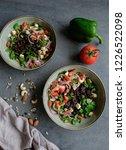 homemade vegetarian cuisine  ... | Shutterstock . vector #1226522098