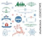 christmas theme design elements | Shutterstock .eps vector #1226527495