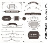 vintage frame design elements | Shutterstock .eps vector #1226527498