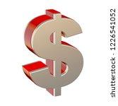 dollar symbol isolated on white ... | Shutterstock . vector #1226541052