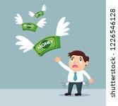 sad businessman lose money ... | Shutterstock .eps vector #1226546128