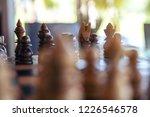 closeup image of a wooden chess ... | Shutterstock . vector #1226546578