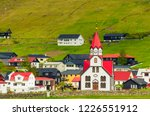lutheran church with red roof... | Shutterstock . vector #1226551912