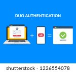 duo authentication concept... | Shutterstock .eps vector #1226554078