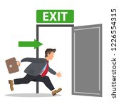 businessman runs to the exit. a ... | Shutterstock .eps vector #1226554315