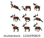 set of simple santa's reindeer... | Shutterstock .eps vector #1226590825