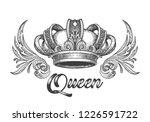 hand drawn queen crown in... | Shutterstock .eps vector #1226591722