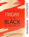 black friday sale banner... | Shutterstock .eps vector #1226596555