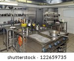 typical kitchen of a restaurant ... | Shutterstock . vector #122659735