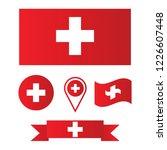 switzerland flags vector... | Shutterstock .eps vector #1226607448