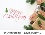 christmas background with pine... | Shutterstock . vector #1226608942