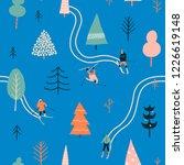 people skiing in the winter... | Shutterstock .eps vector #1226619148