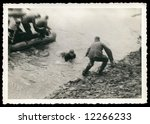 German soldiers landing, World War II The photo was taken by my deceased grandfather. I am owner of all rights.