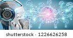 cyborg on blurred background... | Shutterstock . vector #1226626258