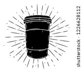 coffee cup. hand drawn vector...   Shutterstock .eps vector #1226628112