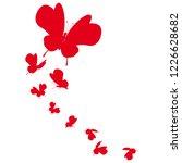 beautiful red butterflies ... | Shutterstock .eps vector #1226628682