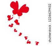 beautiful red butterflies ... | Shutterstock . vector #1226629432
