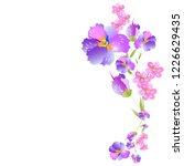 beautiful color flowers ... | Shutterstock . vector #1226629435