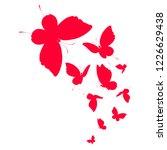 beautiful red butterflies ... | Shutterstock . vector #1226629438