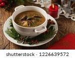 traditional mushroom soup  made ... | Shutterstock . vector #1226639572