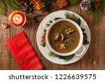 traditional mushroom soup  made ... | Shutterstock . vector #1226639575