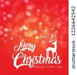 merry christmas vector... | Shutterstock .eps vector #1226642542