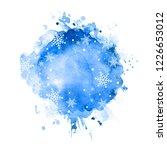 winter watercolor background... | Shutterstock .eps vector #1226653012