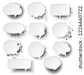 retro speech bubble with white... | Shutterstock . vector #1226660722