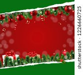 christmas banner with ripped... | Shutterstock . vector #1226660725