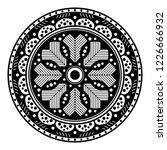 flower shaped mandala  black... | Shutterstock .eps vector #1226666932