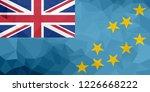 tuvalu polygonal flag. mosaic... | Shutterstock . vector #1226668222