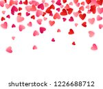 red flying hearts bright love... | Shutterstock .eps vector #1226688712