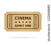 retro cinema ticket....   Shutterstock .eps vector #122668885