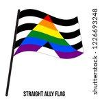 straight ally flag waving... | Shutterstock .eps vector #1226693248