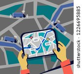 the concept of self driving  ... | Shutterstock .eps vector #1226695885