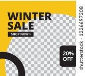 modern promotion square web...   Shutterstock .eps vector #1226697208