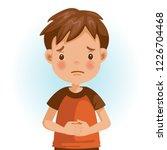 sad little boy. the face...   Shutterstock .eps vector #1226704468