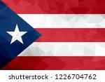 puerto rico polygonal flag.... | Shutterstock . vector #1226704762