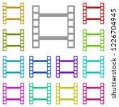 video icon in multi color....