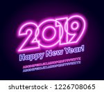 vector colorful happy new year... | Shutterstock .eps vector #1226708065
