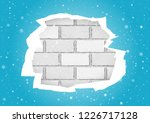 christmas snowfall and torn... | Shutterstock .eps vector #1226717128