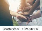 team teamwork business join... | Shutterstock . vector #1226730742