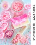 sea salt and soap | Shutterstock . vector #122673568