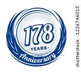 178 years anniversary.... | Shutterstock .eps vector #1226746015