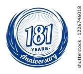 181 years anniversary.... | Shutterstock .eps vector #1226746018